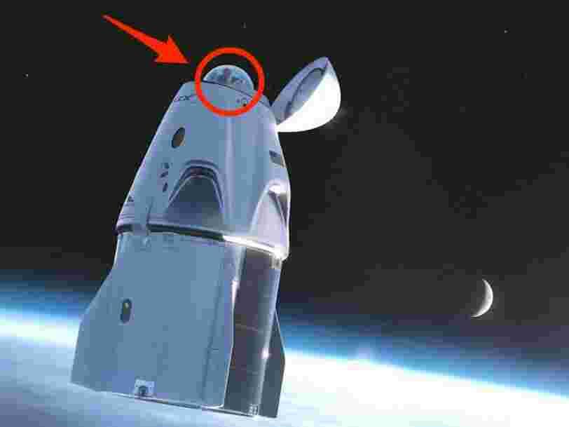 L'équipage civil de SpaceX aura une vue 'imprenable' sur l'espace depuis les toilettes de la capsule