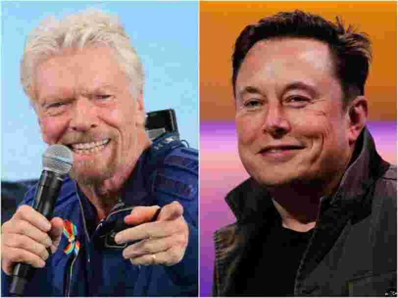 Elon Musk s'est invité chez Richard Branson en pleine nuit pour lui souhaiter bonne chance avant son vol