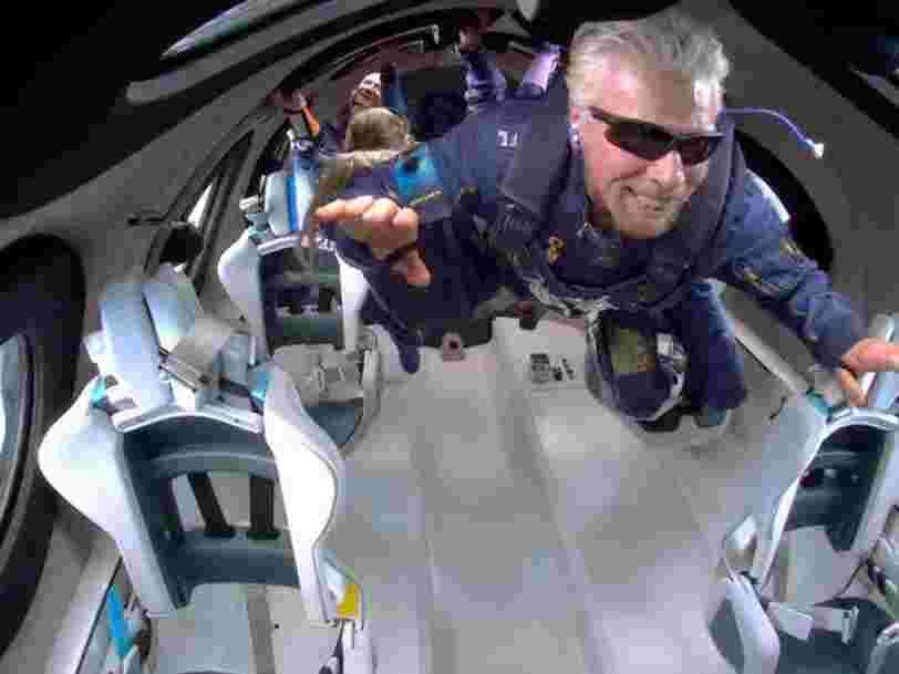 Revivez en images le voyage de Richard Branson dans l'espace avec Virgin Galactic