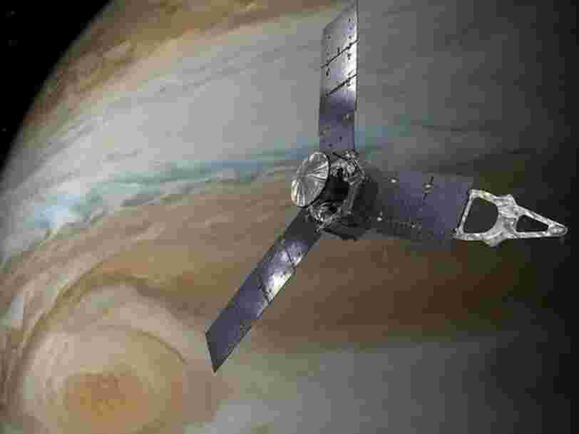 Cette magnifique vidéo de la NASA vous fait survoler Jupiter et sa lune Ganymède