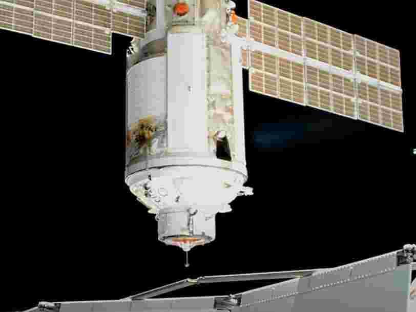 Le module russe Nauka a déclenché ses moteurs par erreur, l'ISS a pivoté de 45 degrés pendant 1 heure