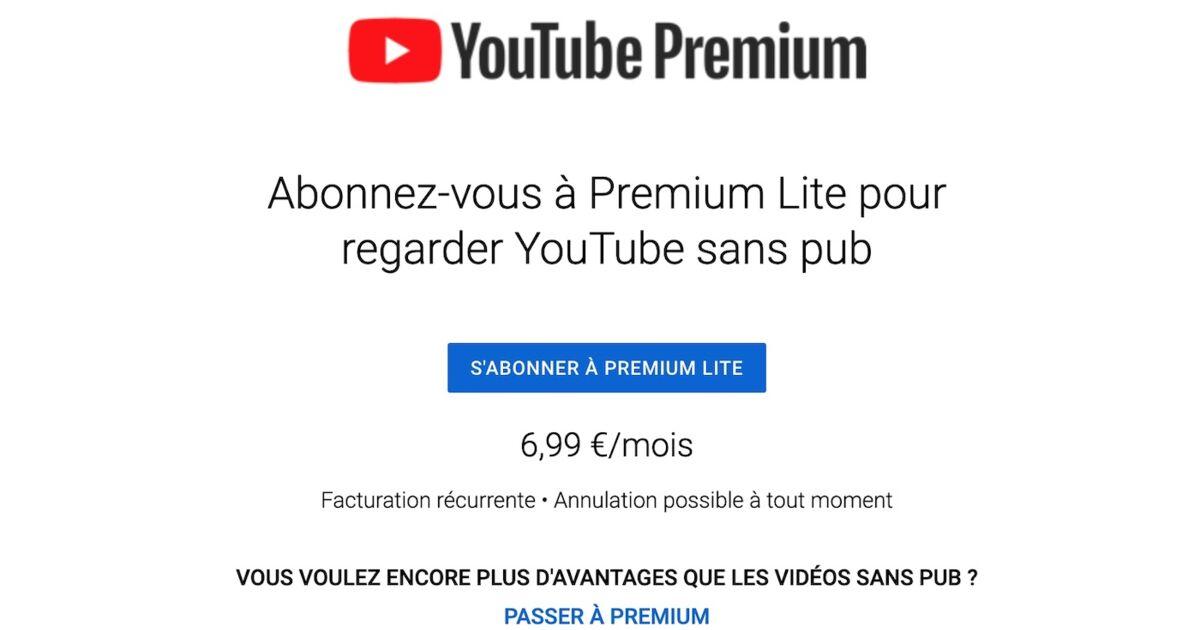 YouTube teste une offre pour se débarrasser des publicités durant les vidéos