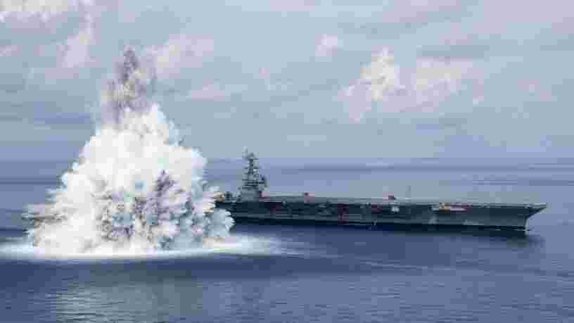 Le dernier porte-avions américain résiste à l'impact d'une bombe de 18 000 kg