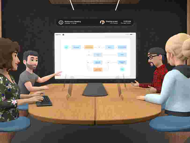 Facebook lance Horizon Workrooms, des salles de réunions en réalité virtuelle