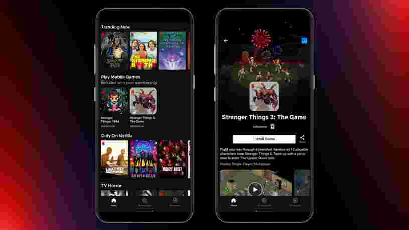 Netflix lance deux jeux vidéo mobile disponibles depuis l'application en Pologne
