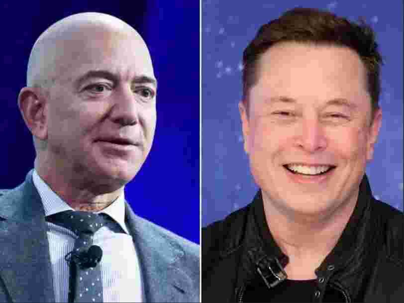 Elon Musk s'attaque de nouveau à Jeff Bezos via un tweet rageur