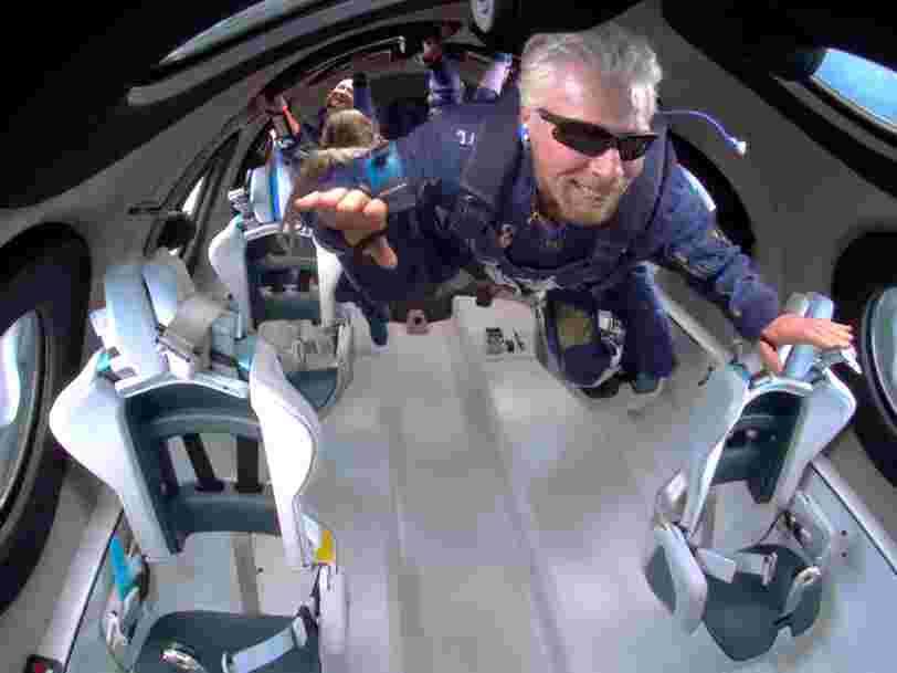 Le vaisseau de Virgin Galactic a connu un incident lors du vol de Richard Branson en juillet