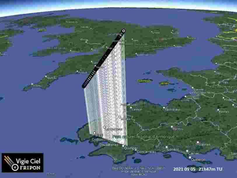 Le météore observé en Bretagne s'est intégralement désintégré dans l'atmosphère
