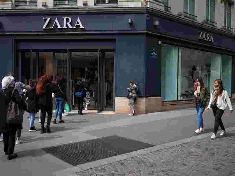 Les clients reviennent en magasin, le groupe de Zara en profite