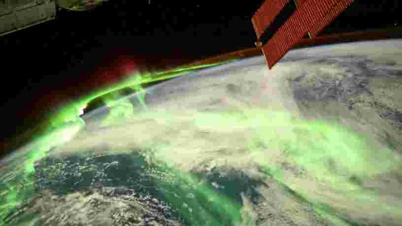 Thomas Pesquet partage la photo d'une magnifique aurore boréale prise depuis l'ISS