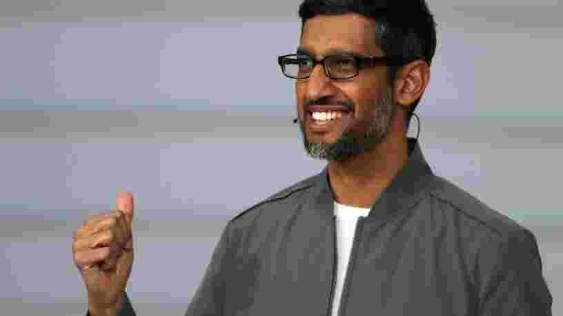 Le patron de Google Sundar Pichai estime qu'être en télétravail 2 jours par semaine est le meilleur rythme