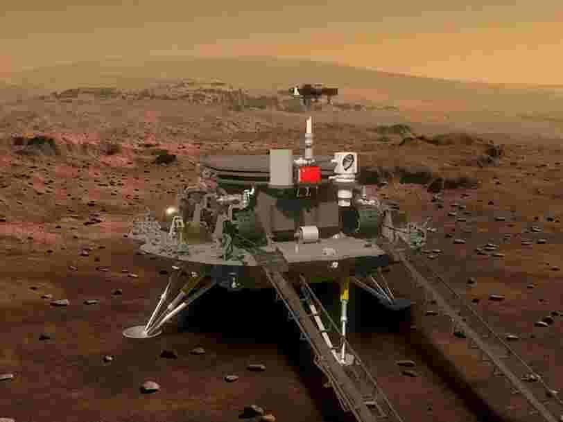 Le rover chinois sur Mars a transmis ses premières images de la planète rouge