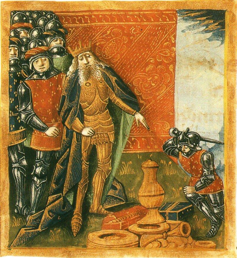 « Souviens-toi du vase de Soissons ! » aurait dit Clovis, à l'un de ses soldats qui n'avait pas voulu rendre un vase précieux. En représailles, Clovis aurait :
