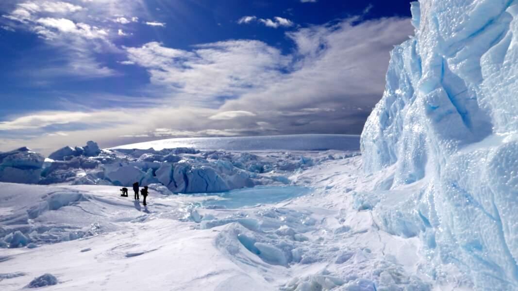 Tournage dans le chaos des glaces