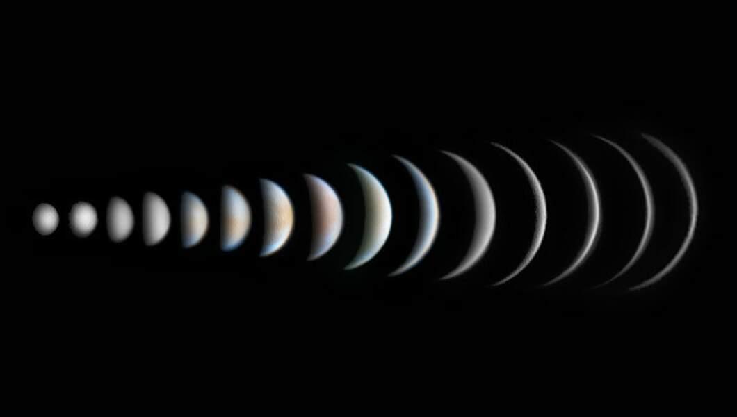 Les différentes phases de Vénus