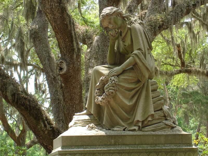 Le cimetière de Bonaventure de la ville de Savannah