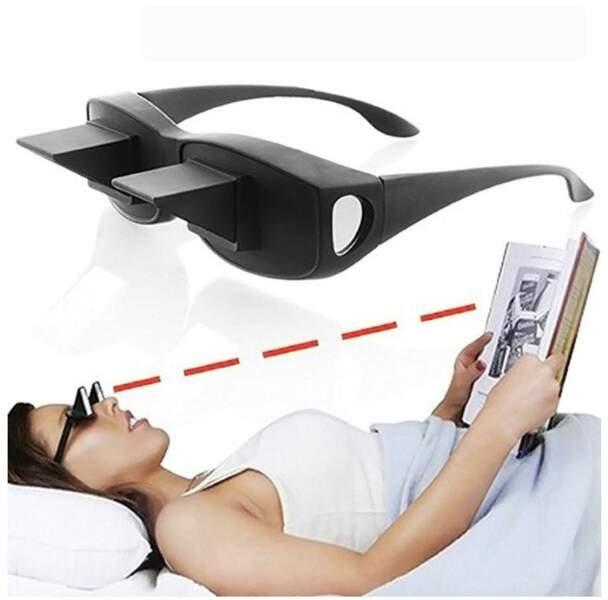 Des lunettes pour lire au lit