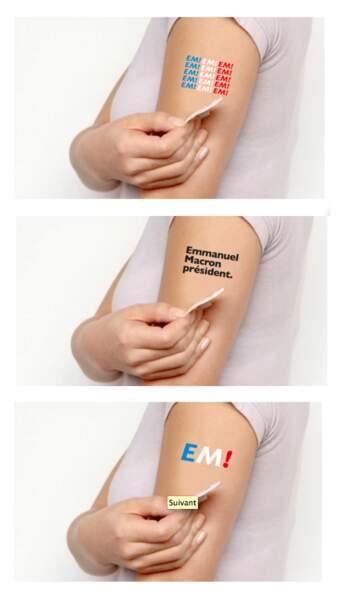 "Le tattoo ""en marche"""