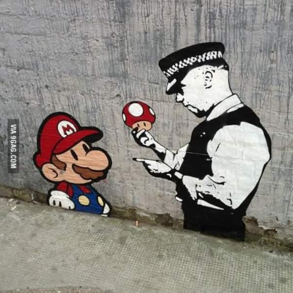 Mario, tu devais pas te calmer sur les champignons magiques ?