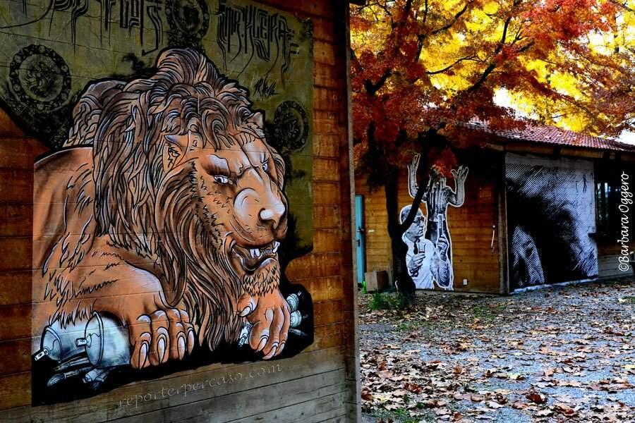 Fresque du Street Art Museum de Turin