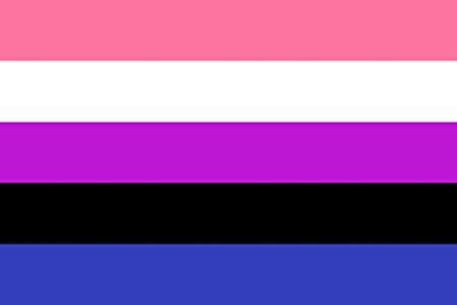 Le drapeau genderfluid