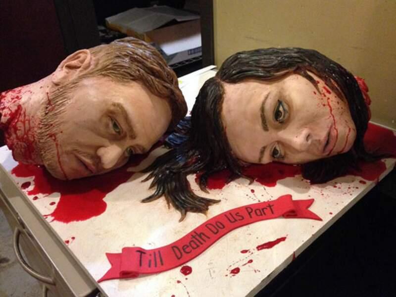 """""""Jusqu'à ce que la mort nous sépare"""" - Le gâteau de mariage bien glauque"""
