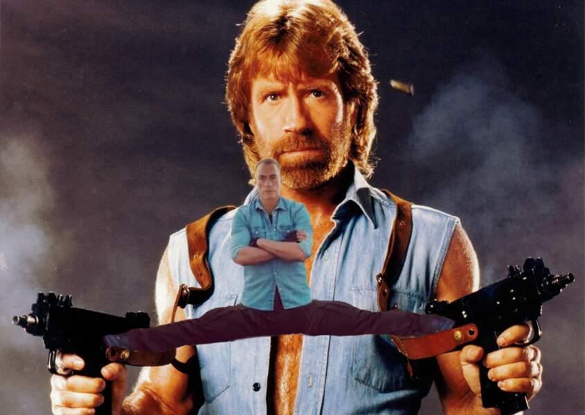 Pour aider Chuck Norris à mieux viser (quoi qu'il n'en ait pas besoin)
