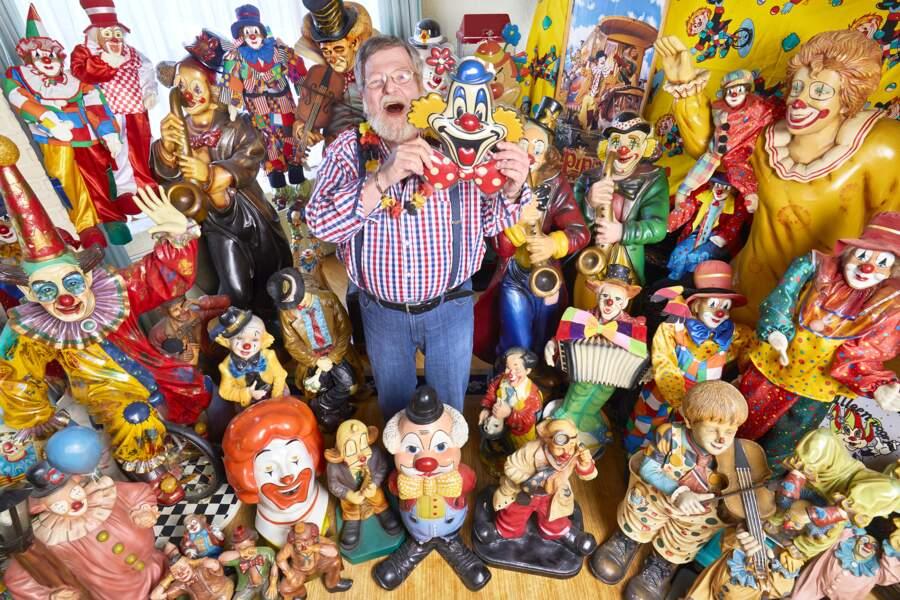 La plus grande collection d'objets liés aux clowns