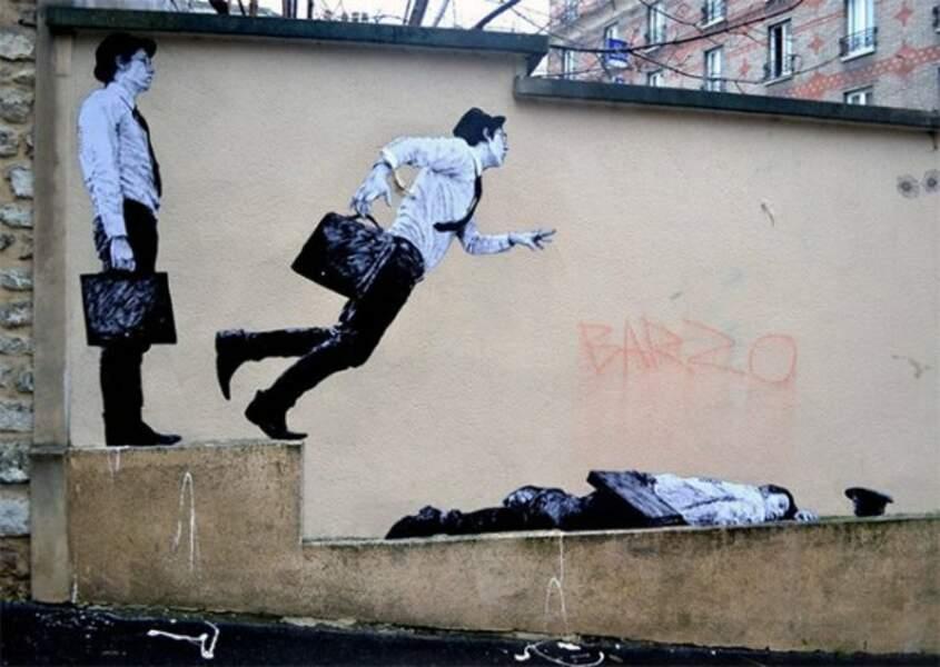 Street art de l'artiste français Lavalet