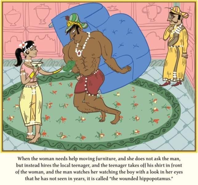 L'hippopotame blessé