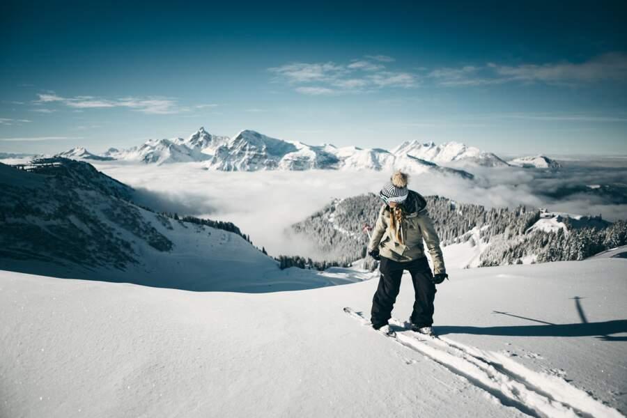 La descente à skis à l'envers la plus rapide