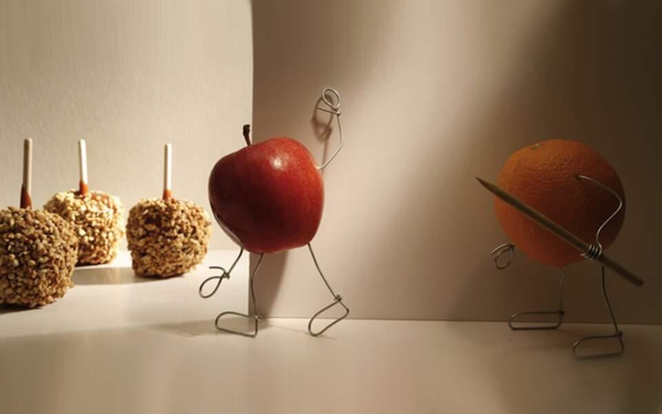 La pomme tente d'échapper à son destin