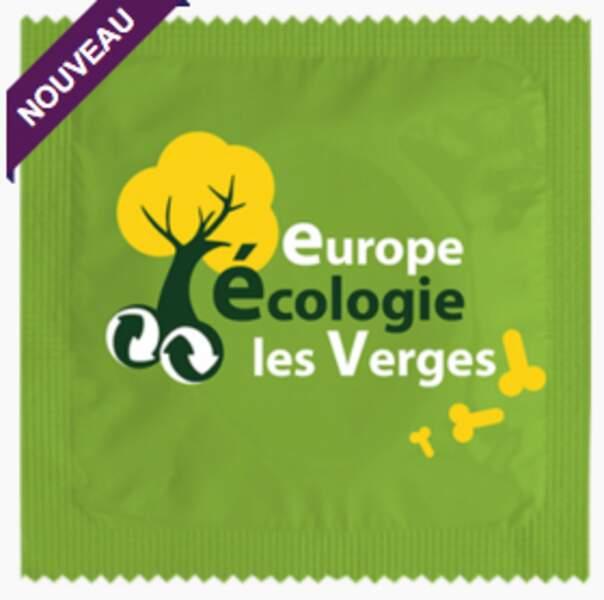 """Le préservatif """"Europe Ecologie les Verges"""""""
