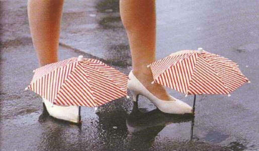 Les parapluies de pieds