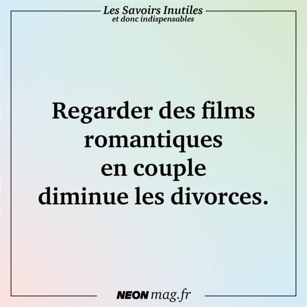 Regarder des films romantiques en couple diminue les divorces