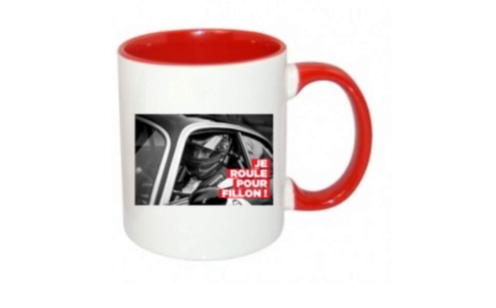 """Le mug """"Je roule pour Fillon"""""""