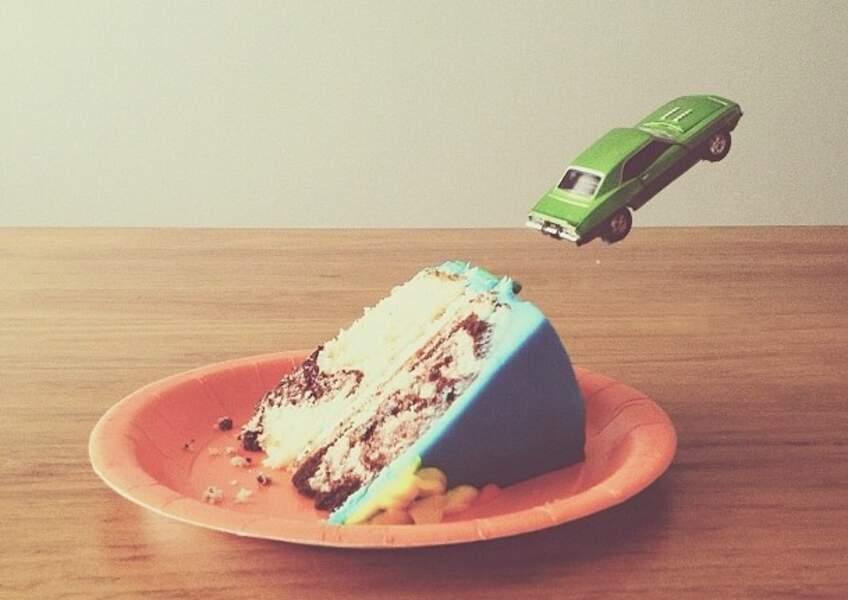 Cascade sur gâteau