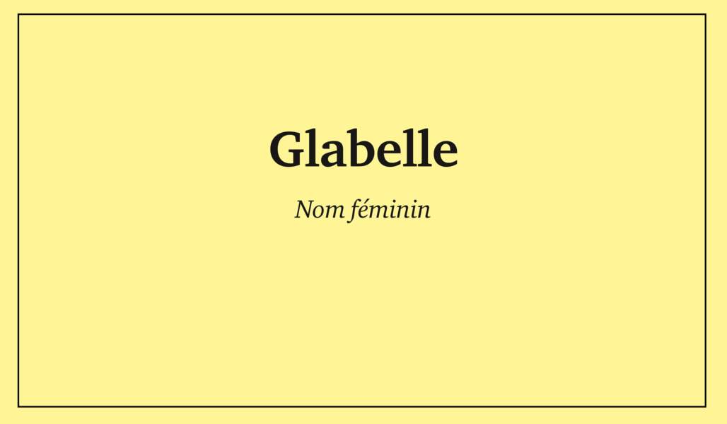 Glabelle
