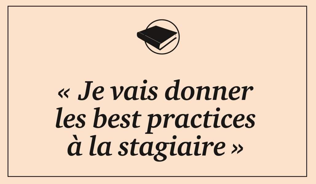 Best practices, le lead, le go…