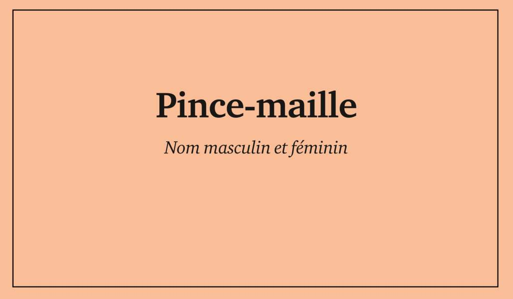 Pince-maille