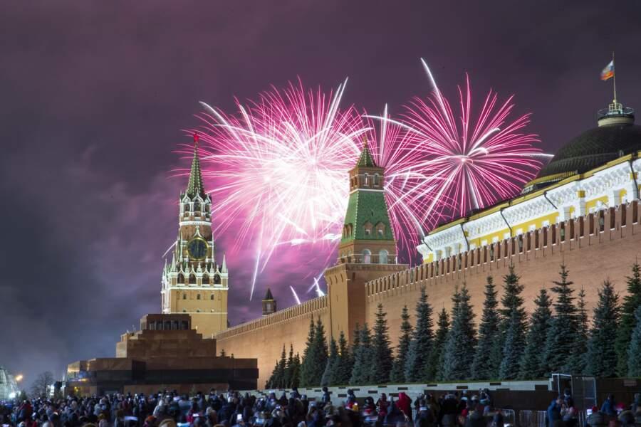 Le peuple russe réunit sur sa place historique