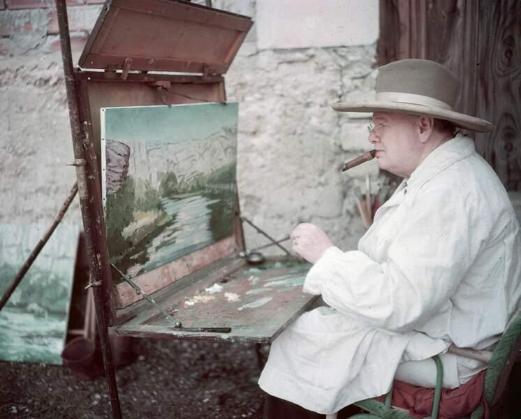 Picasso l'encourage à tenir le pinceau