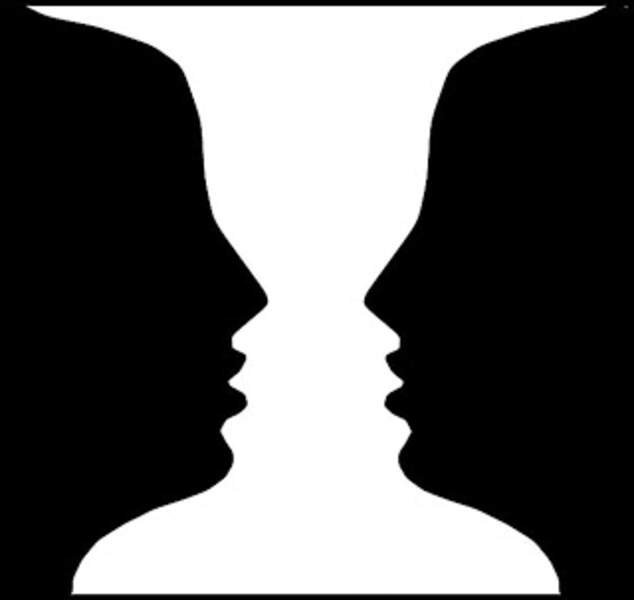 Un vase ou deux visages qui se font face ?