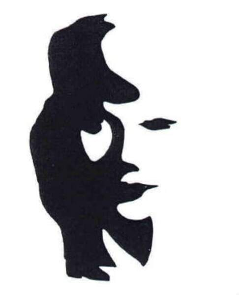 Un visage ou un joueur de saxophone ?