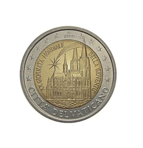 Les deux euros commémoratifs Vatican de 2005
