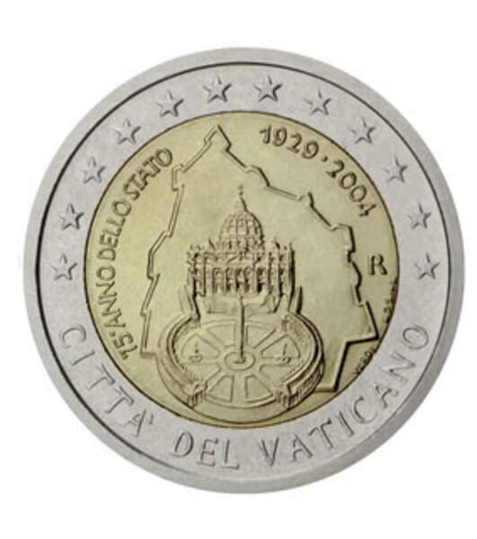 Les deux euros du Vatican 2004
