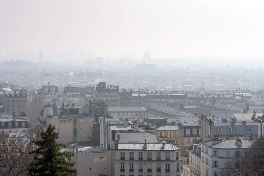 Vue aérienne, Paris, le 14 mars 2014