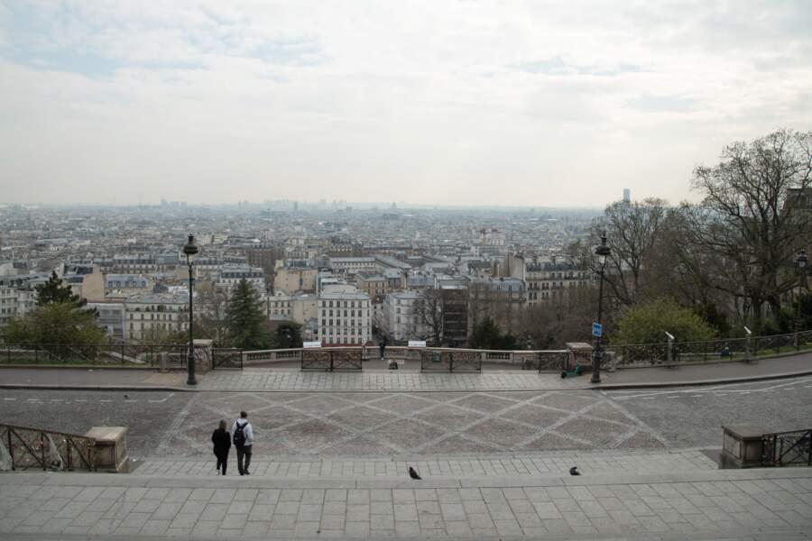 Vue aérienne, Paris, le 17 mars 2020, premier jour du confinement