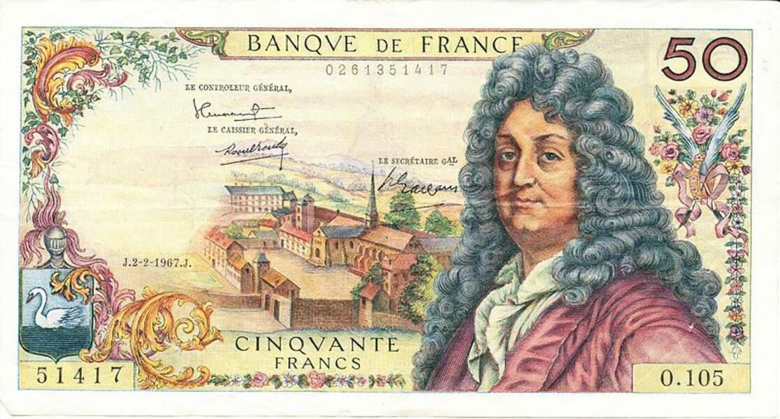 Les 50 francs pour Racine en 1962