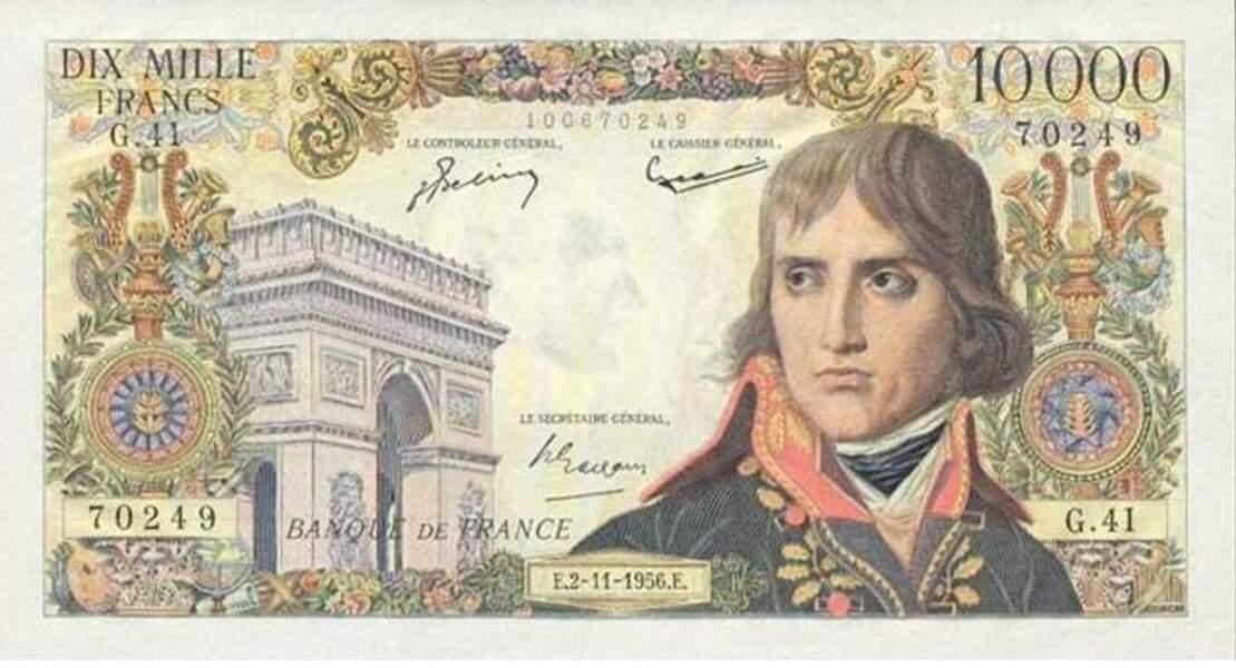Les 10 000 francs pour Napoléon Bonaparte en 1955
